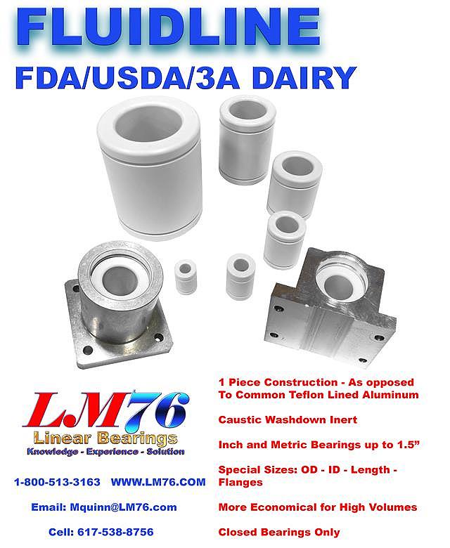 Motion Control - Linear Motion - Fluidline Linear Bearings